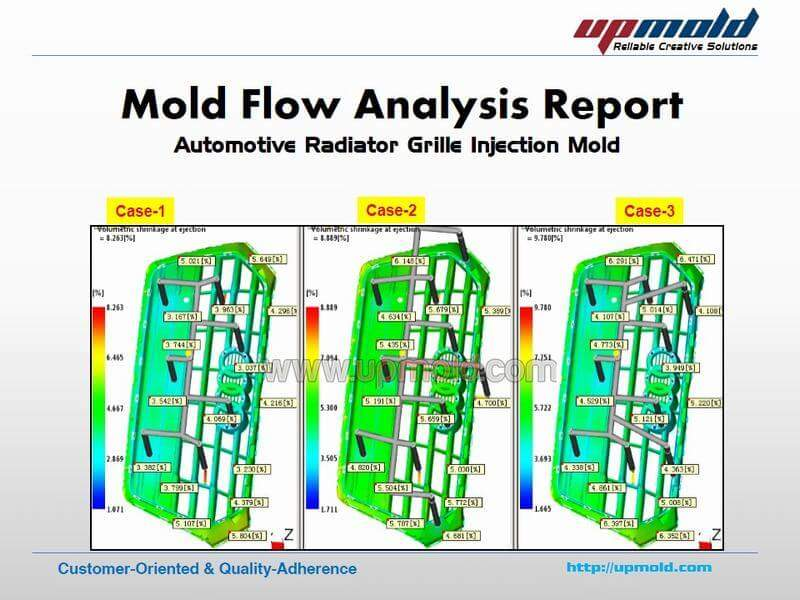 Automotive-Grille-Mold-Flow-Analysis Report