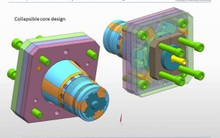 collapsible core mold design