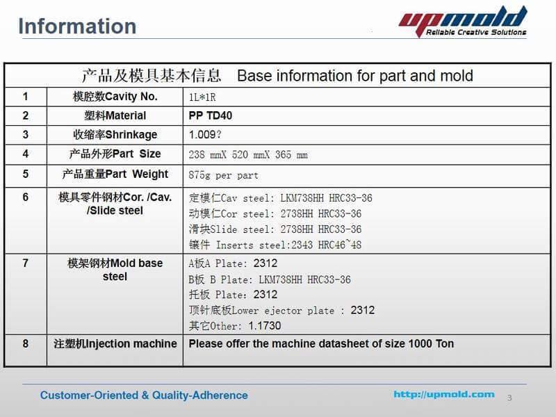 DFM Report For Automotive Head Light Housing Injection Mold Design