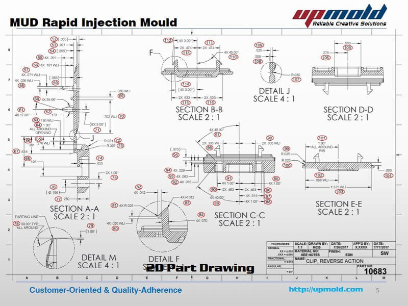 MUD Rapid Injection mould Custom Manufacturer - Upmold Limited