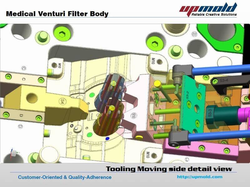 Medical Venturi Filter Body injection mold design