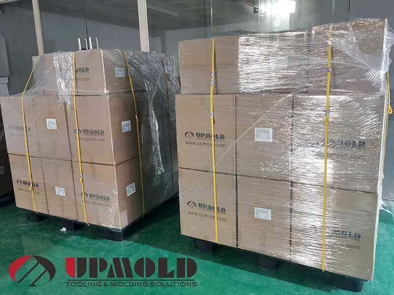 Packed product for shipping