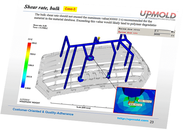 tooling design molflow report by upmold